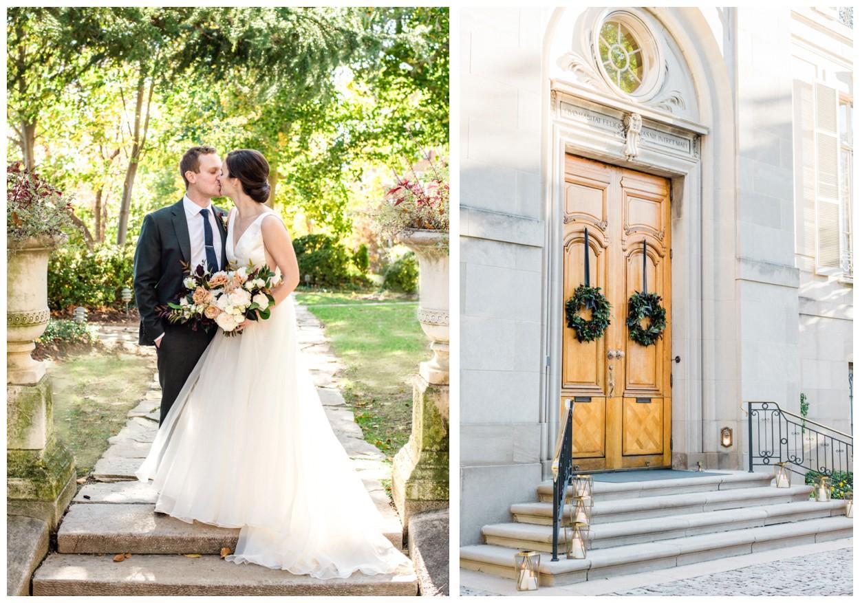 Fall garden wedding at the Meridian House in Washington DC by fine art wedding photographer Lissa Ryan Photography