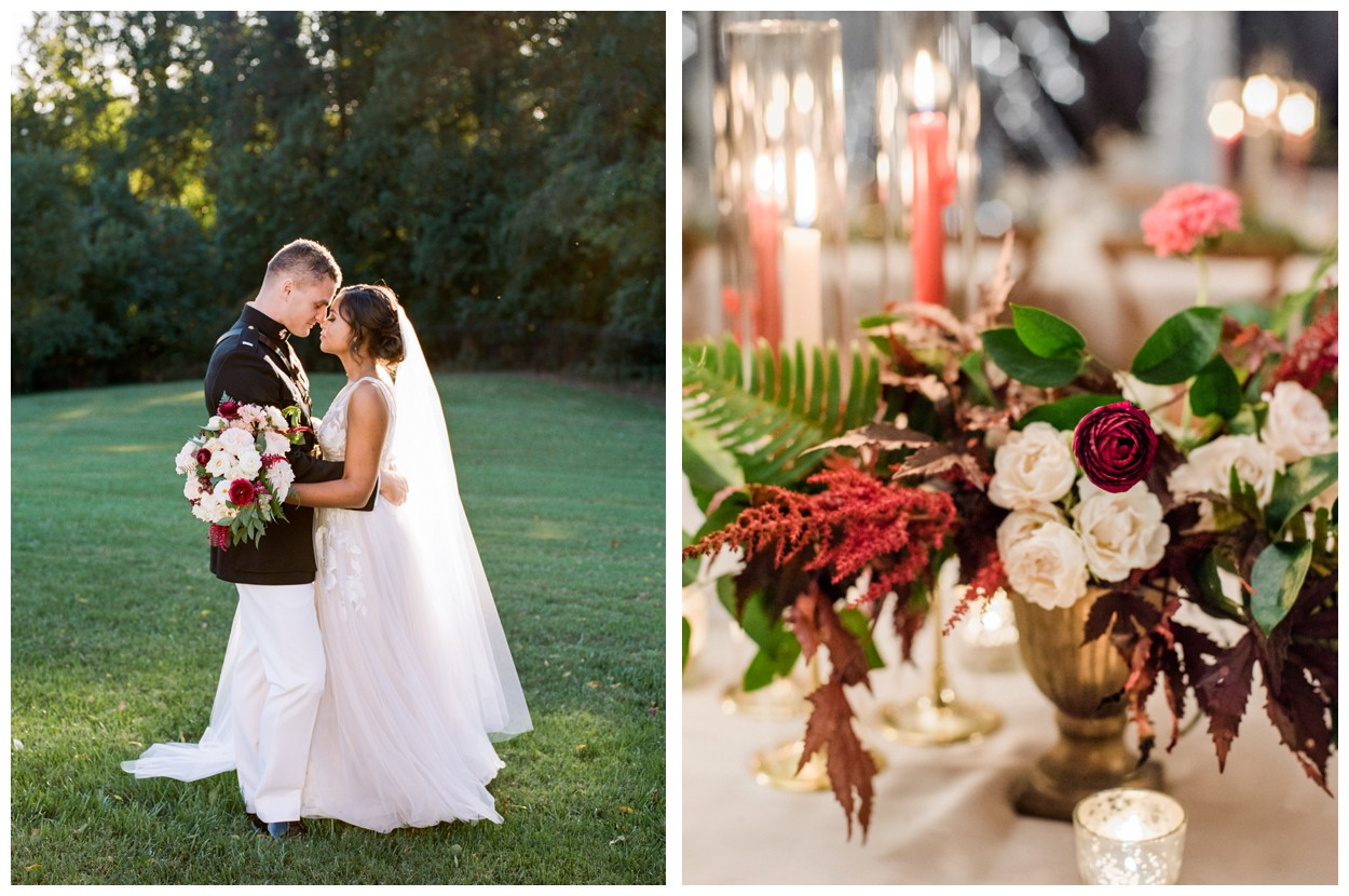 Fall vibrant garden wedding at Oxon Hill Manor in Maryland by fine art wedding photographer Lissa Ryan Photography