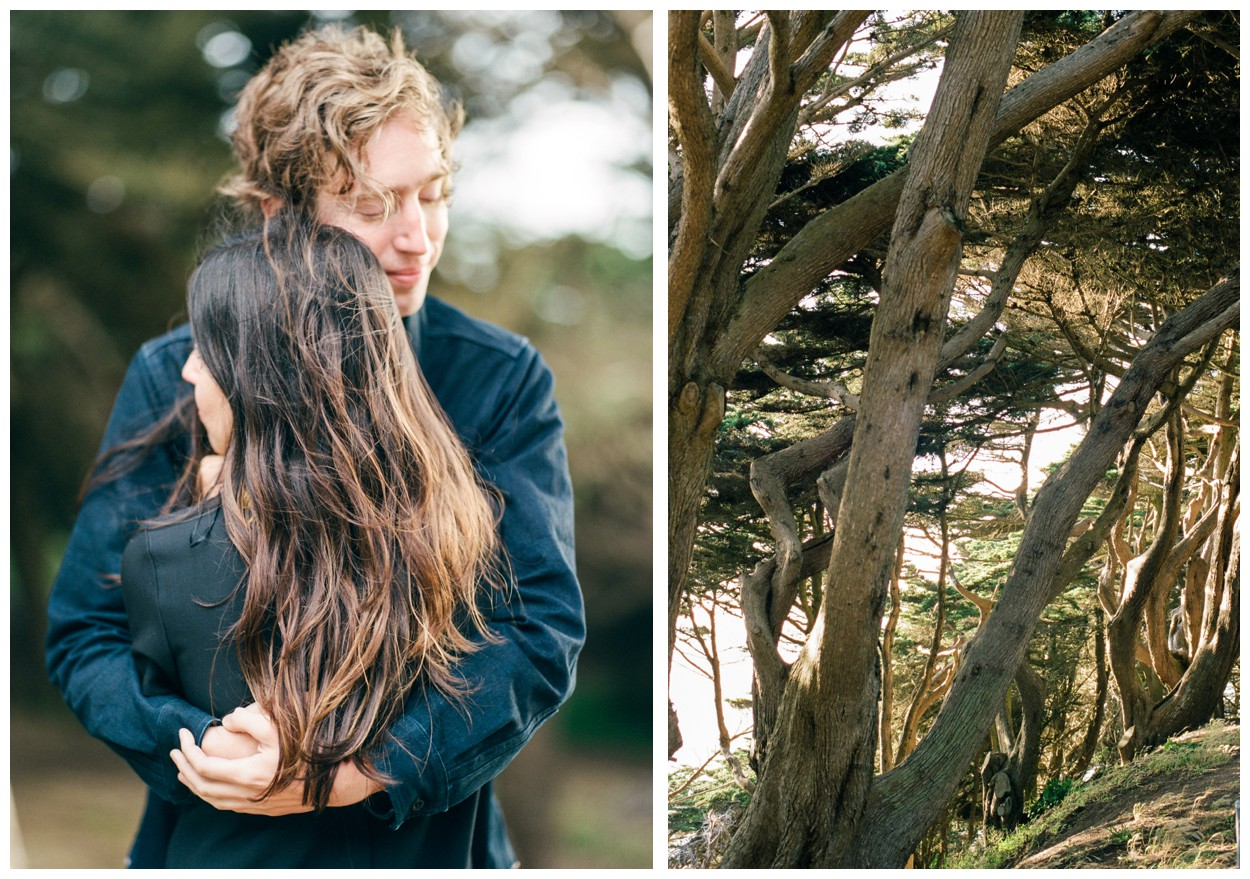 San Francisco Engagement Session at the Sutro Baths and Land's End by fine art destination wedding photographer Lissa Ryan Photography