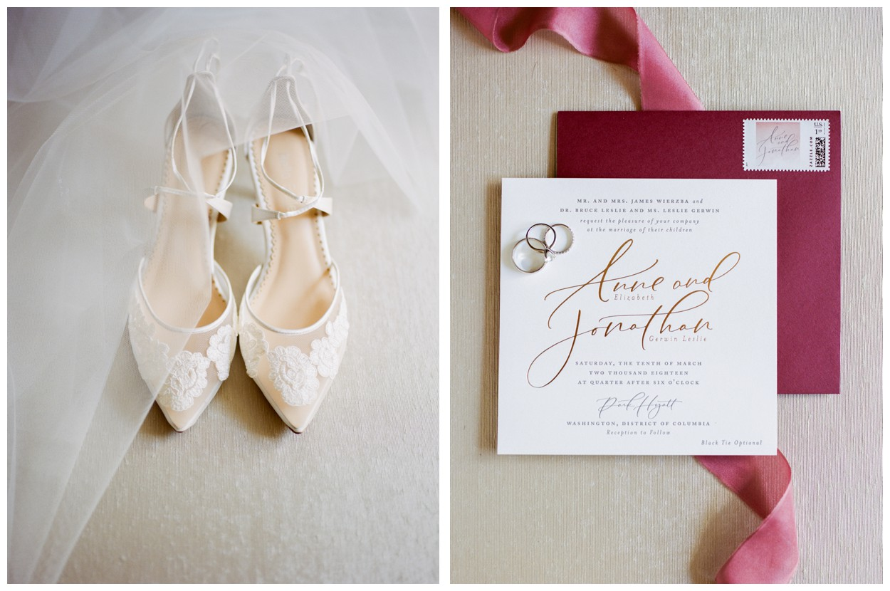 Spring Wedding in Shades of Pink at the Park Hyatt Washington DC by fine art wedding photographer Lissa Ryan Photography invitation suite by Stephanie B Designs and shoes by Bella Belle