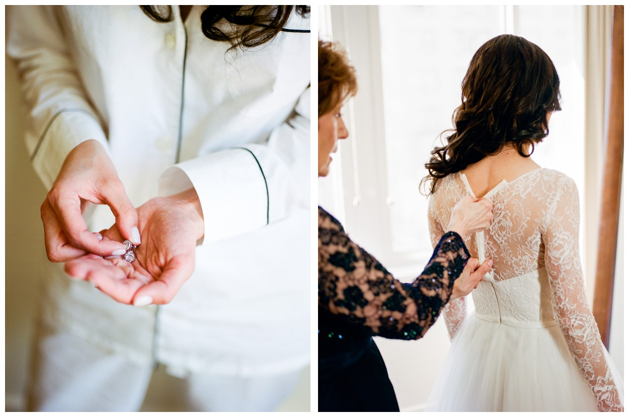Spring Wedding in Shades of Pink at the Park Hyatt Washington DC by fine art wedding photographer Lissa Ryan Photography bride getting ready