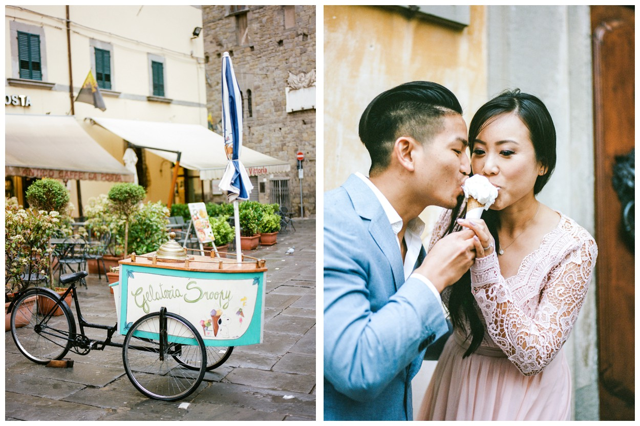 Spring Engagement at Villa Montanare in Cortona Tuscany, Italy by fine art wedding photographer Lissa Ryan Photography gelato