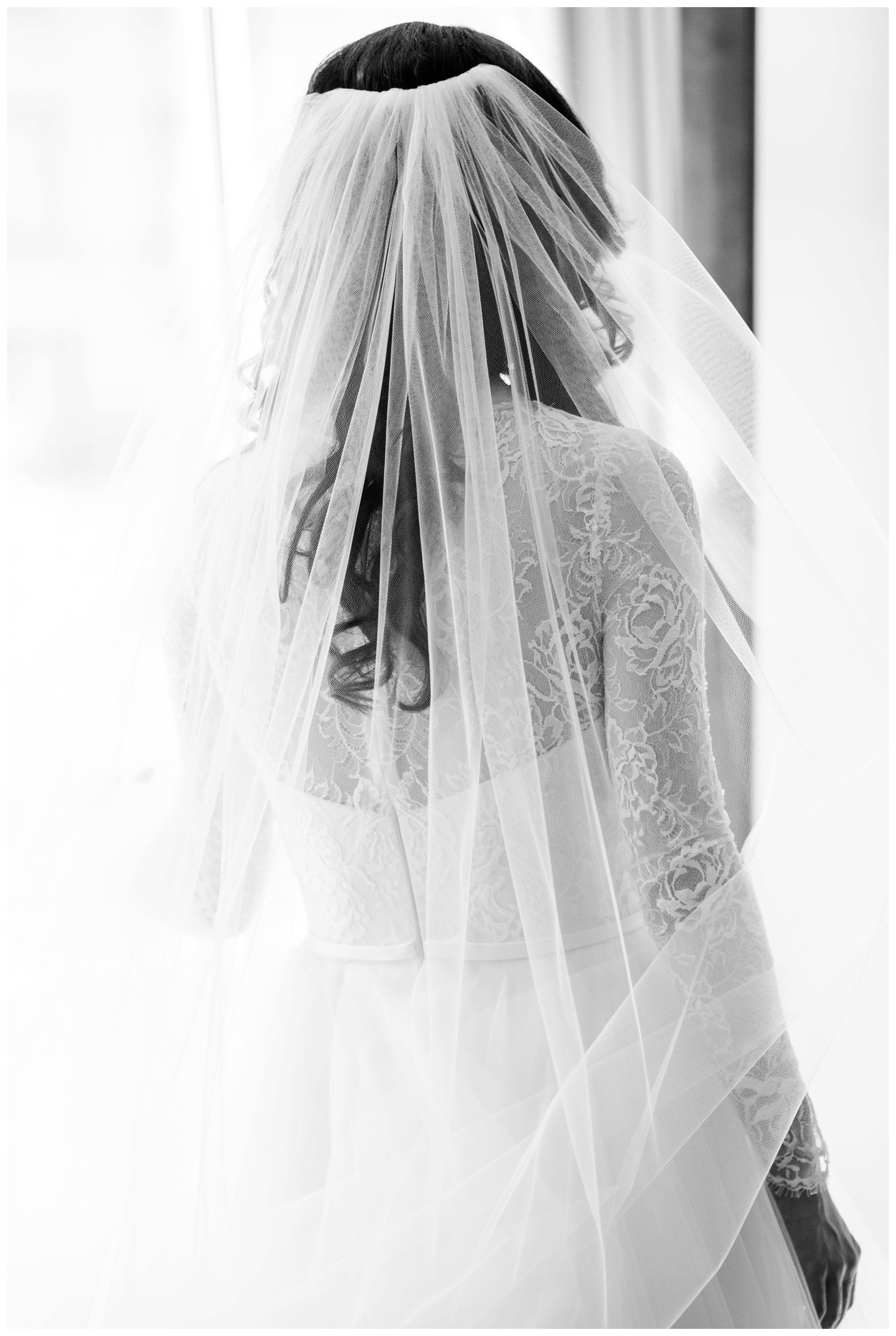 Spring Wedding in Shades of Pink at the Park Hyatt Washington DC by fine art wedding photographer Lissa Ryan Photography bride in her veil