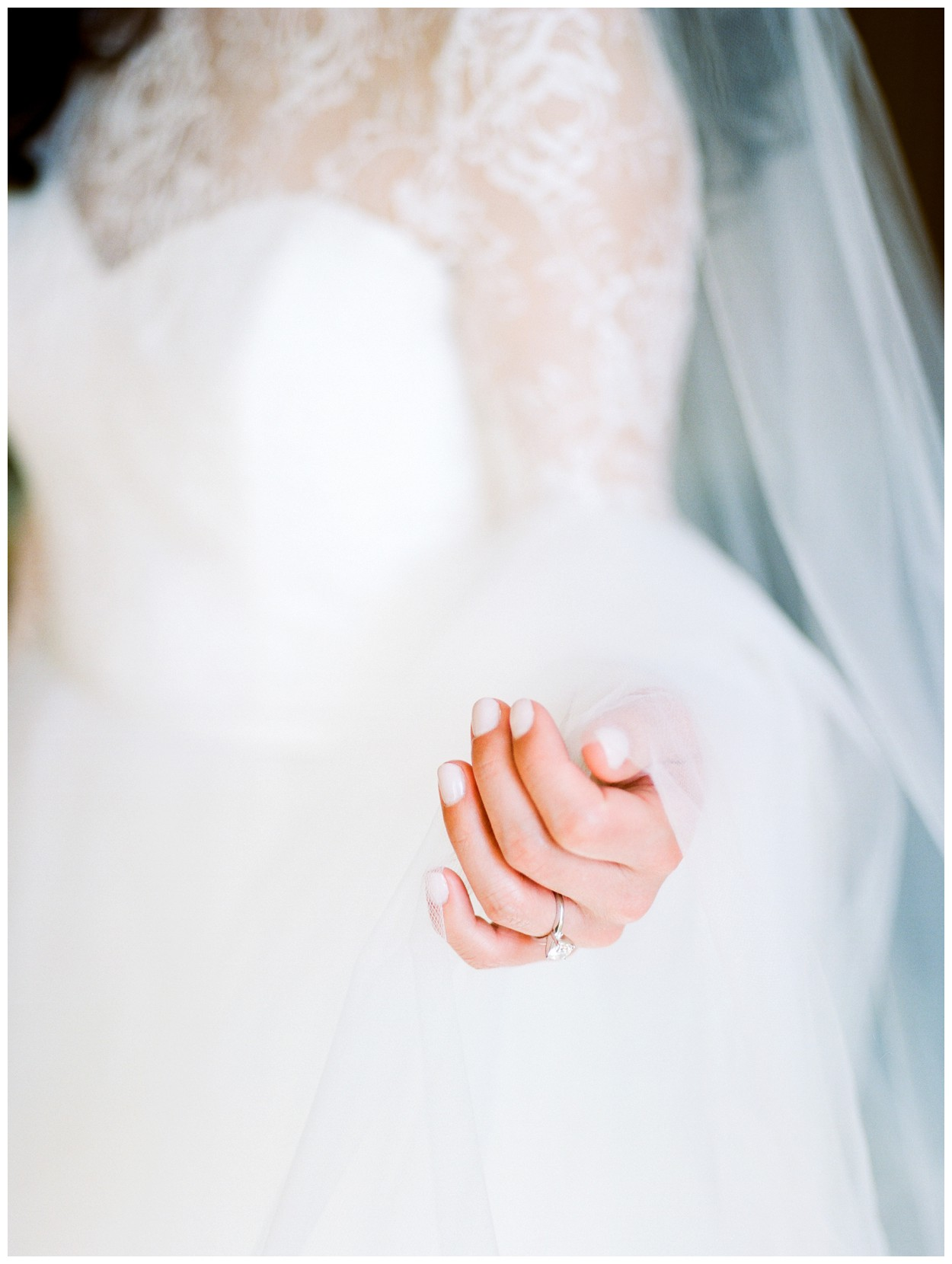 Spring Wedding in Shades of Pink at the Park Hyatt Washington DC by fine art wedding photographer Lissa Ryan Photography bride holding veil