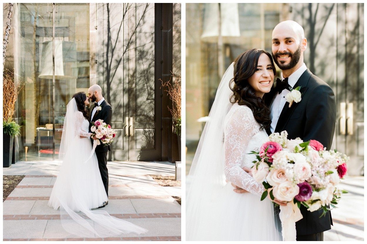 Spring Wedding in Shades of Pink at the Park Hyatt Washington DC by fine art wedding photographer Lissa Ryan Photography bride and groom first look