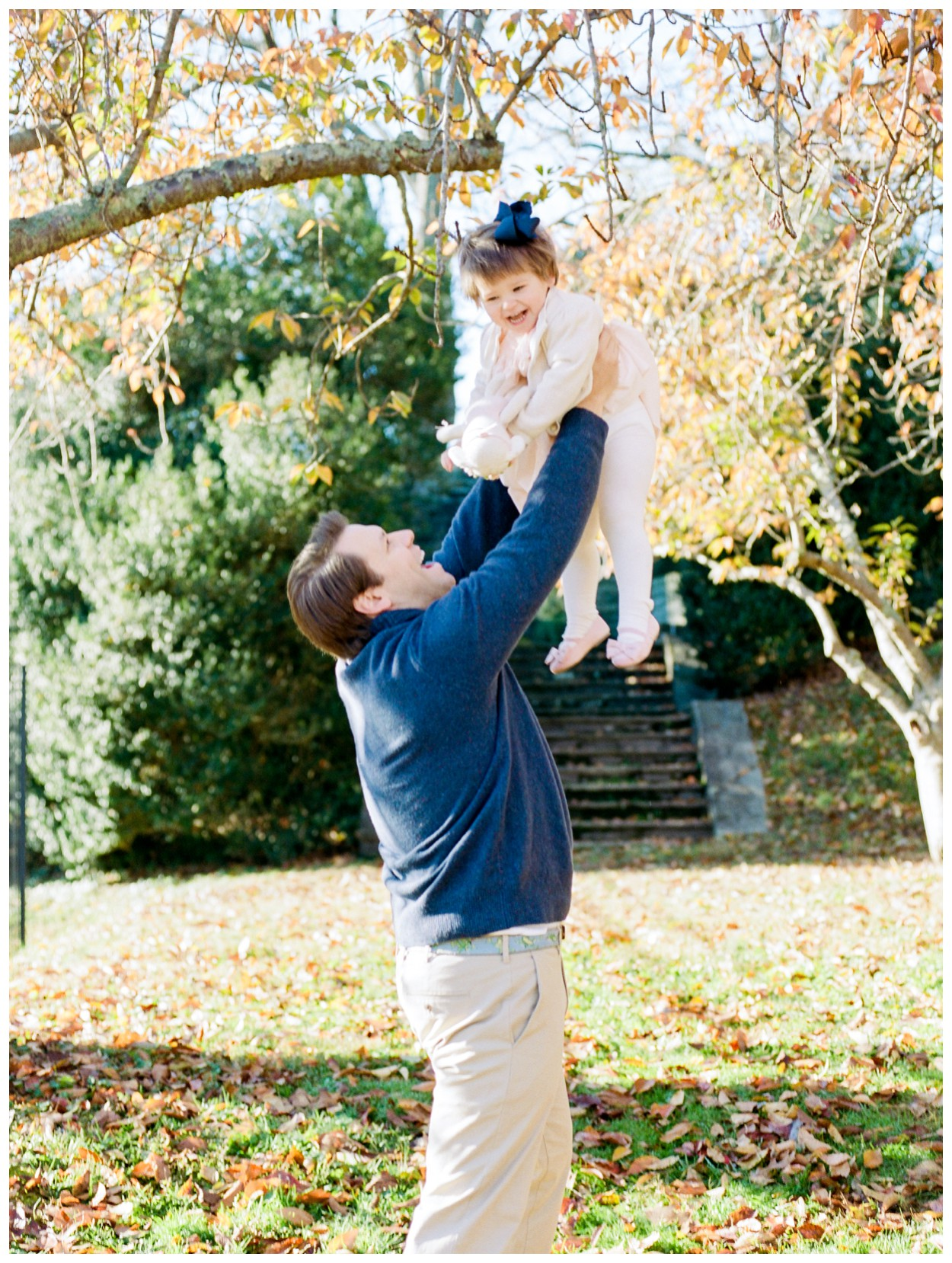 Family session on film at Glenview Mansion by fine art photographer Lissa Ryan Photography maternity
