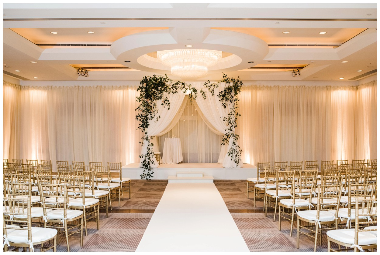 Spring Wedding in Shades of Pink at the Park Hyatt Washington DC by fine art wedding photographer Lissa Ryan Photography ceremony with chuppah