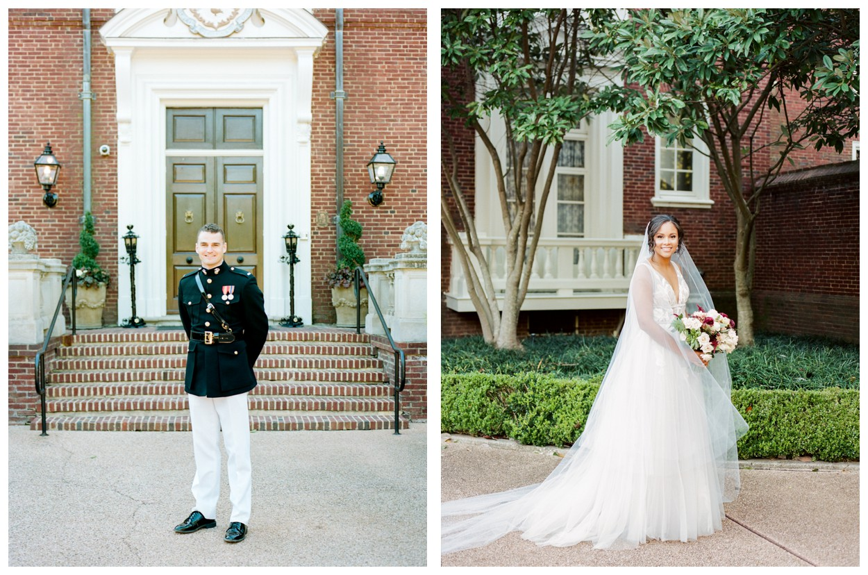 Sun drenched fall wedding in shades of pink at Oxon Hill Manor in Maryland bride and groom portraits by Lissa Ryan Photography