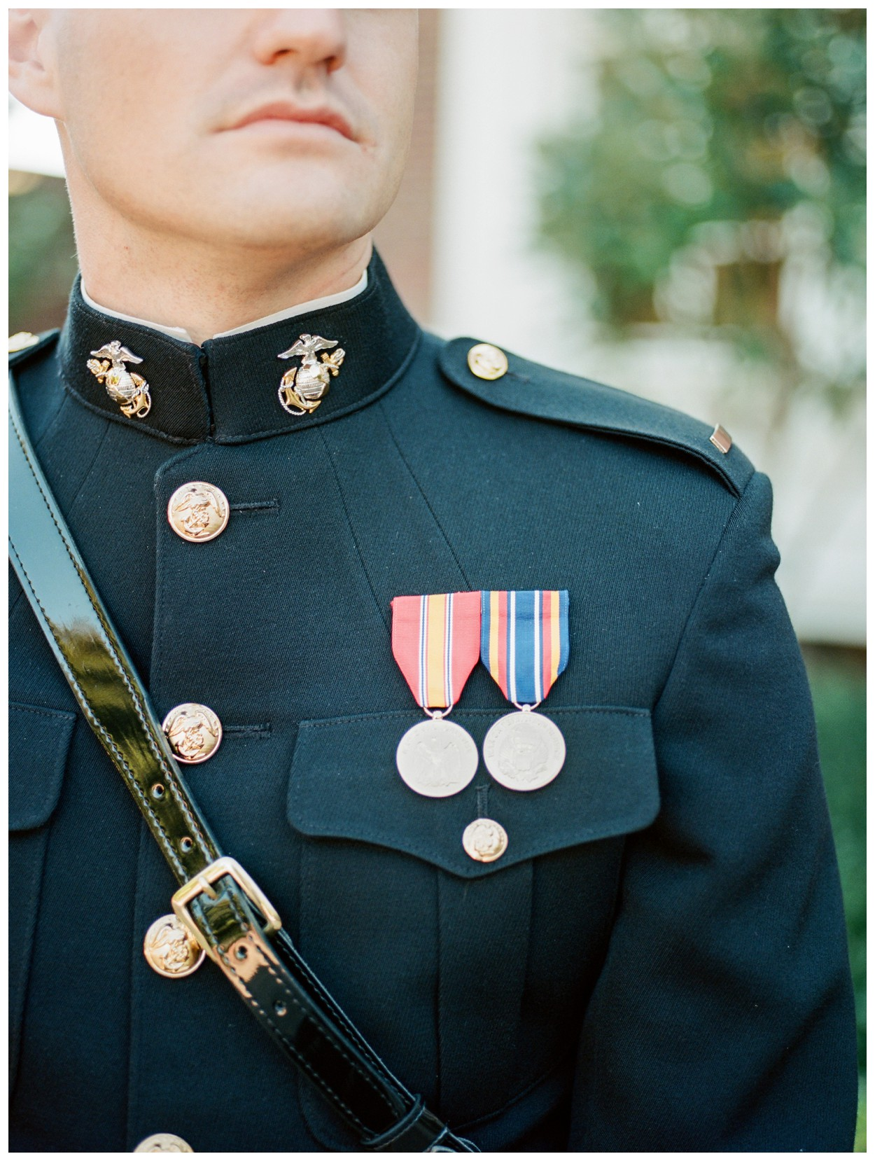 Sun drenched fall wedding in shades of pink at Oxon Hill Manor in Maryland military groom in uniform by fine art wedding photographer Lissa Ryan Photography