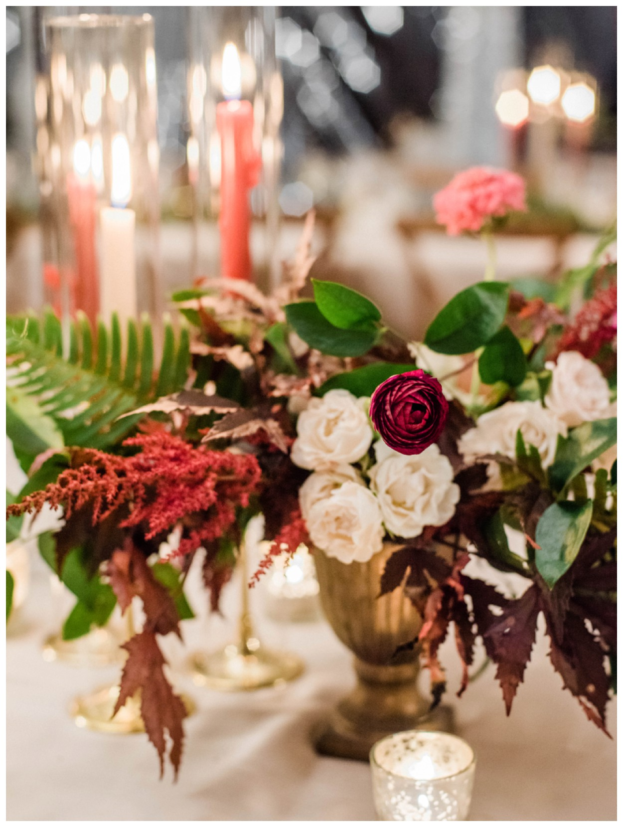 Sun drenched fall wedding in shades of pink at Oxon Hill Manor in Maryland by Washington DC fine art photographer Lissa Ryan Photography