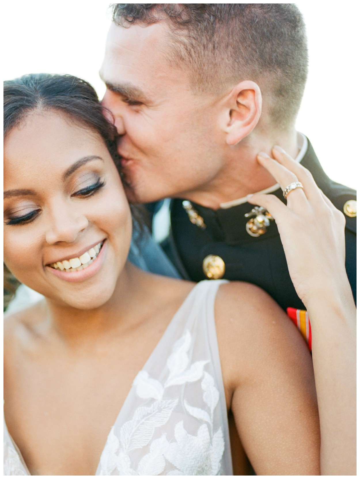 Sun drenched fall wedding in shades of pink at Oxon Hill Manor in Maryland bride and groom portrait by Washington DC fine art photographer Lissa Ryan Photography