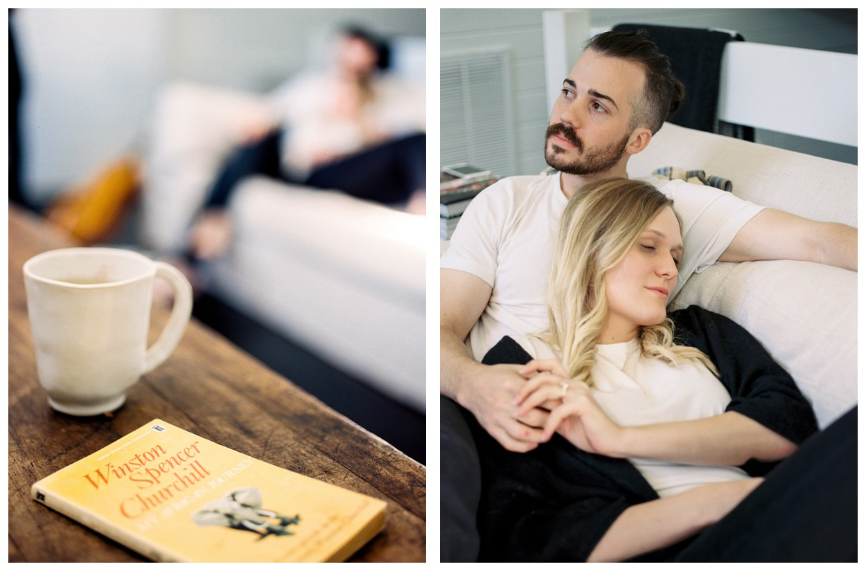 A cozy anniversary session at home from LOOM Curated by fine art wedding photographer Lissa Ryan Photography