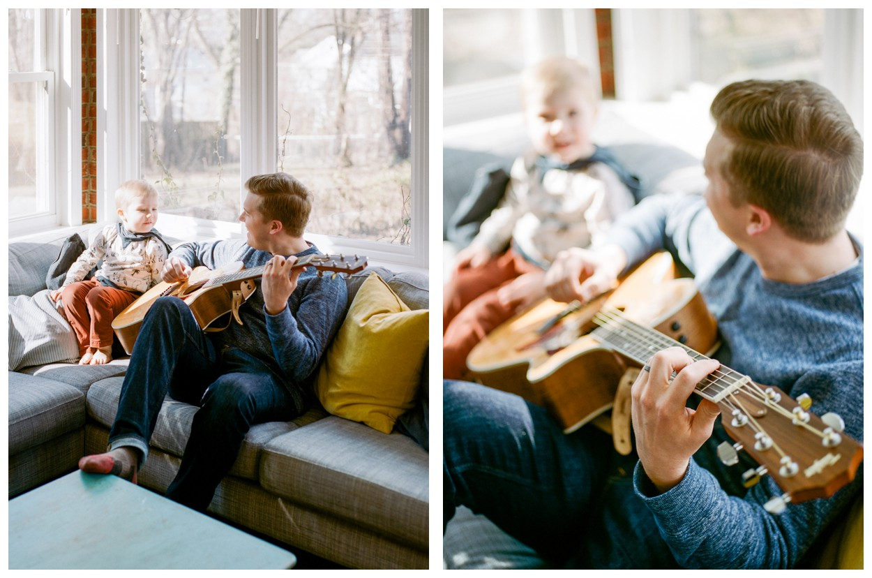 At-home lifestyle newborn session by fine art photographer Lissa Ryan Photography