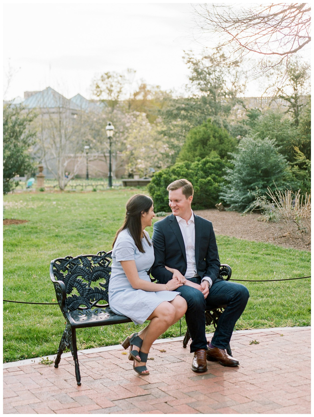 Spring engagement session at Smithsonian Castle in Washington DC by fine art wedding photographer Lissa Ryan Photography