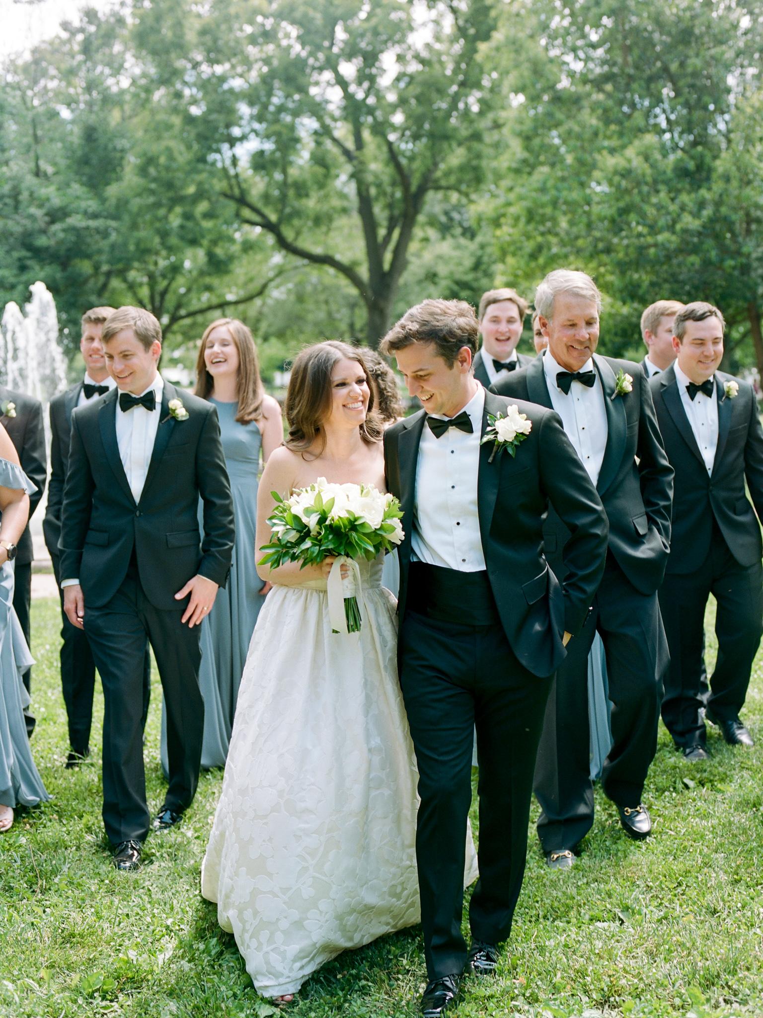 Classic black tie Summer Wedding at The Mayflower Hotel in Washington DC by fine art wedding photographer Lissa Ryan Photography