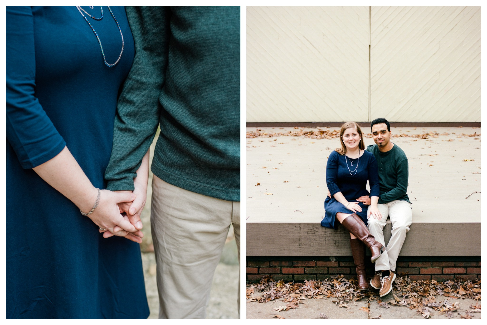Fall Engagement Session in the Woods in Arlington, Virginia by fine art wedding photographer Lissa Ryan Photography
