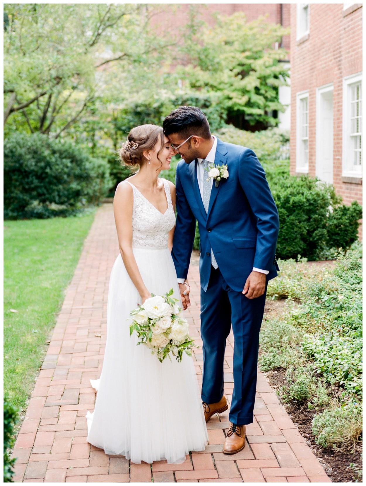 Fall Garden Wedding at Dumbarton House in Washington DC by fine art wedding photographer Lissa Ryan Photography