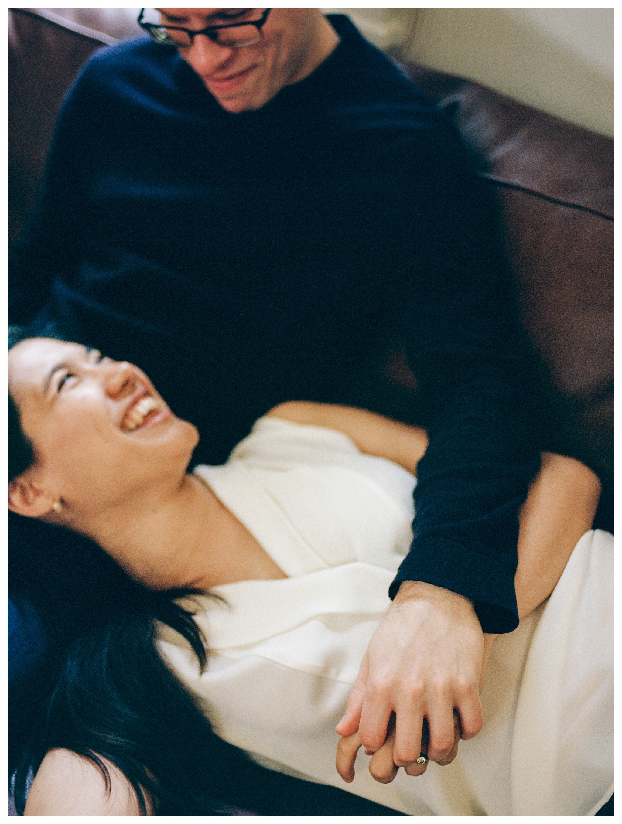 Intimate At-Home Engagement Session in Washington, DC by fine art wedding photographer Lissa Ryan Photography