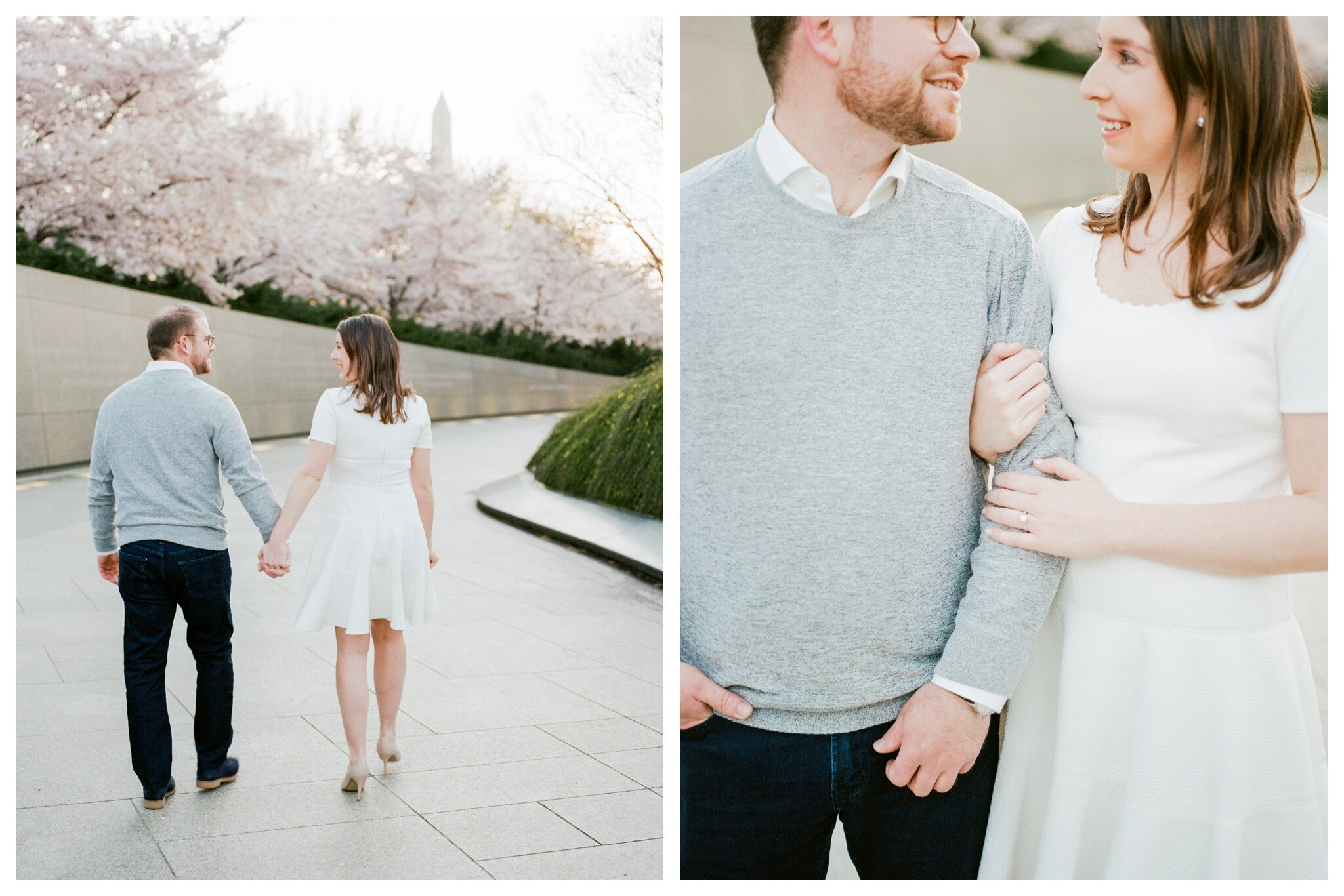 Spring Cherry Blossom Engagement Session in Washington DC by fine art wedding photographer Lissa Ryan Photography