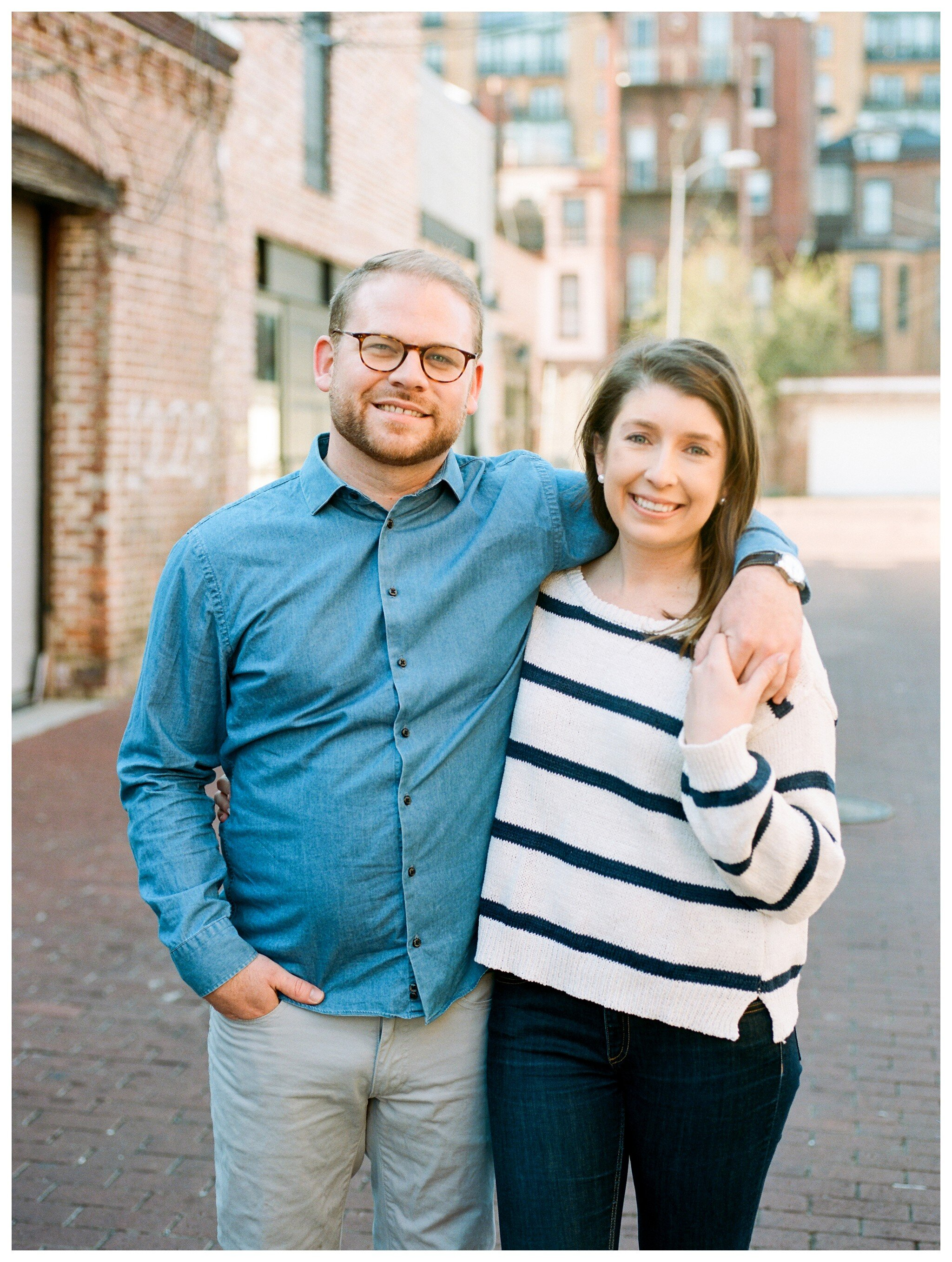 Spring Blagden Alley Engagement Session in Washington DC by fine art wedding photographer Lissa Ryan Photography