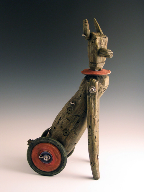 """Walk and Roll #5 / 21""""H x 10""""W x 6""""D / 2008"""