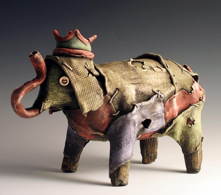 """Elephant #2 / 7""""H x 11""""W x 4""""D / 2009"""