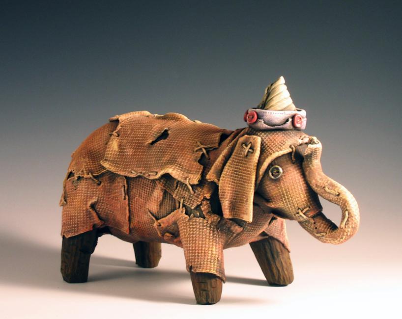 """Elephant #1 / 6""""H x 11""""W x 4""""D / 2009"""
