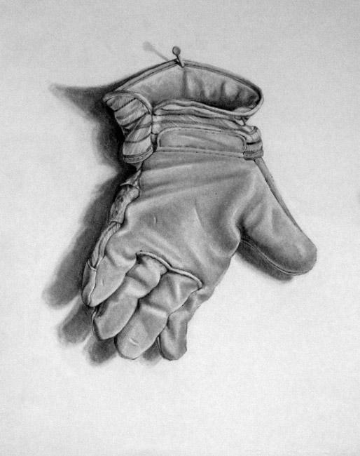 "Glove Study / 22""H x 15""W / 1992"