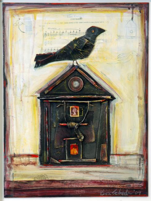 "Bird House / 24""H x 18""W / 2004"