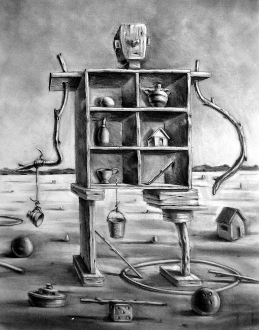 "The Collector / 24""H x 18""W / 2011"