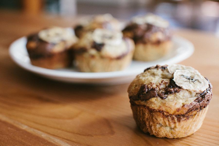 Banana Nutella Muffins | Becca Bakes (www.becca- bakes.com)