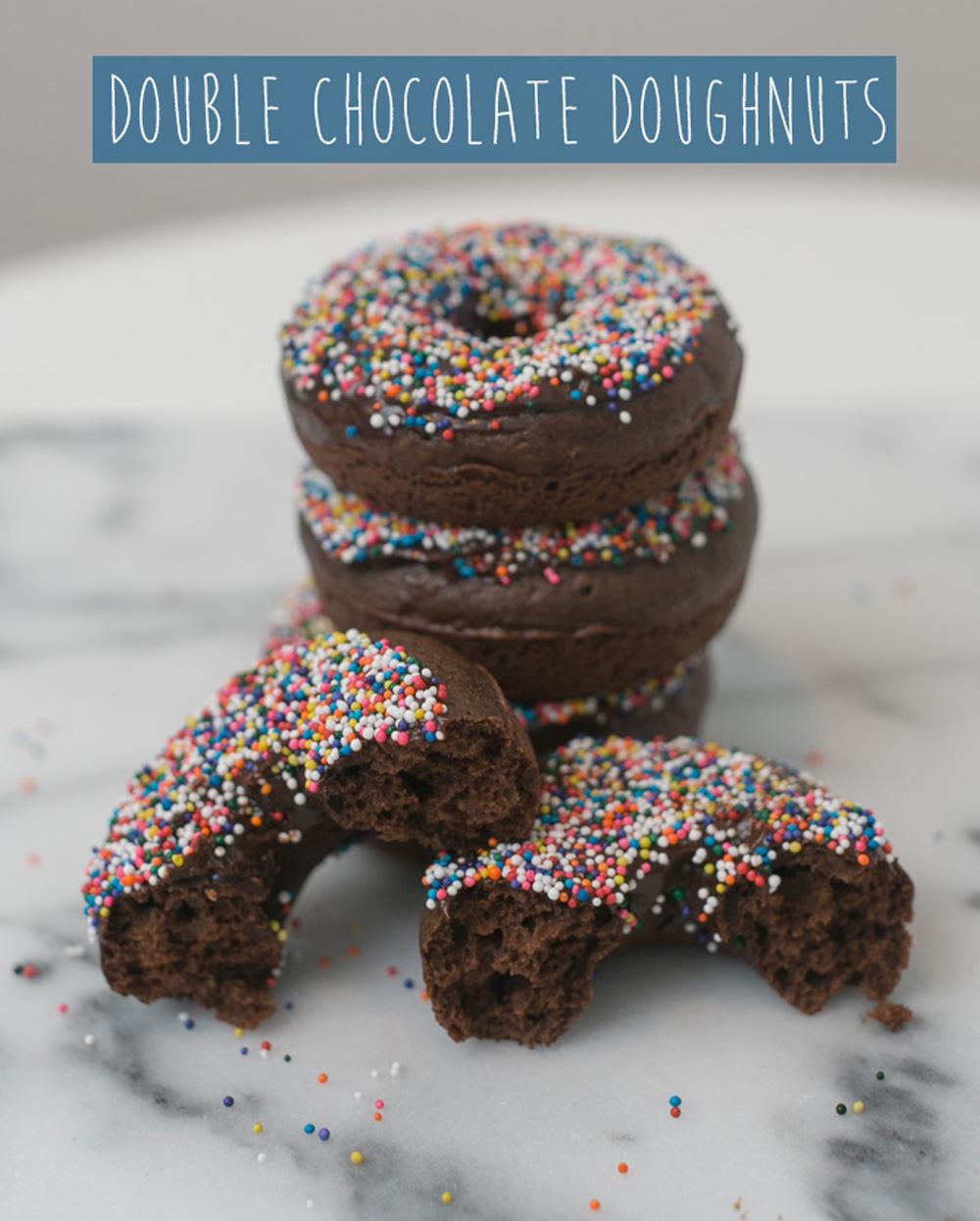 Baked Double Chocolate Doughnuts   Becca Bakes (www.becca-bakes.com)