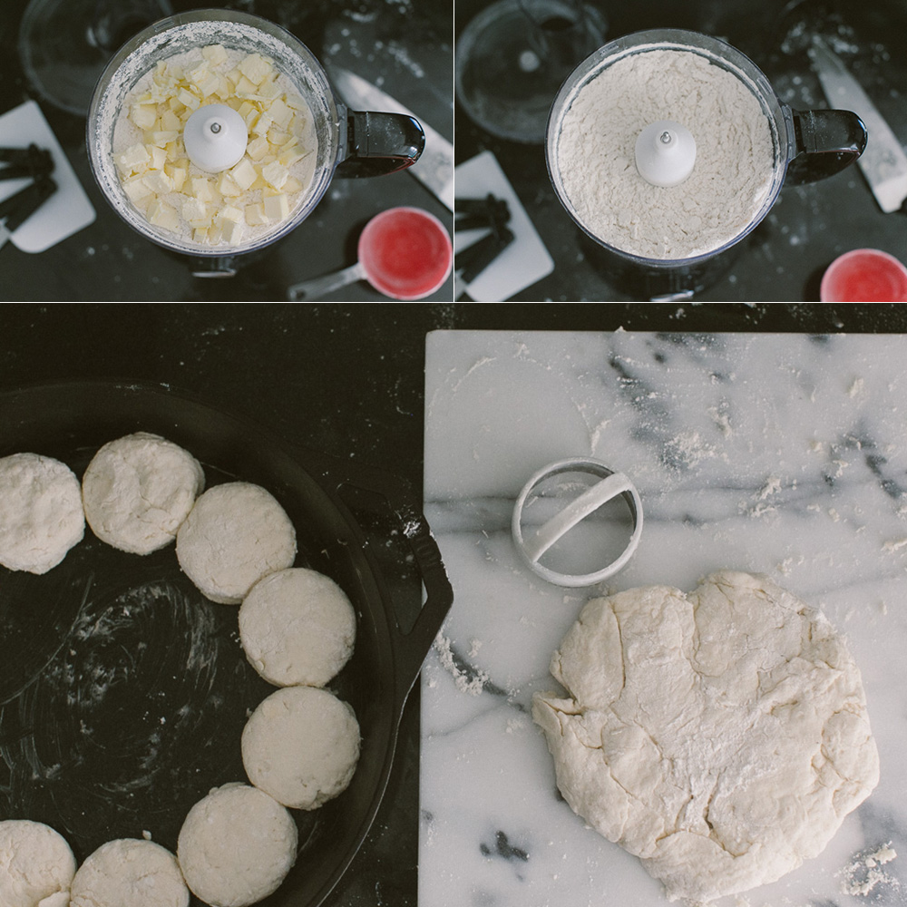 Cast Iron Skillet Biscuits + Rosemary Honey Butter | Becca Bakes (www.becca-bakes.com)