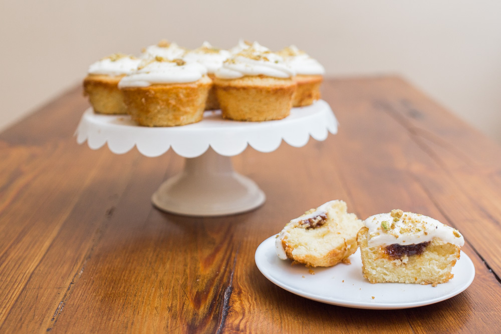 Honey Fig Cupcakes + Goat Cheese Frosting | Becca Bakes (www.becca-bakes.com)