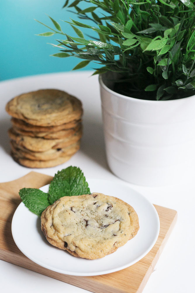 Fresh Mint + Dark Chocolate Cookies | Becca Bakes (www.becca-bakes.com