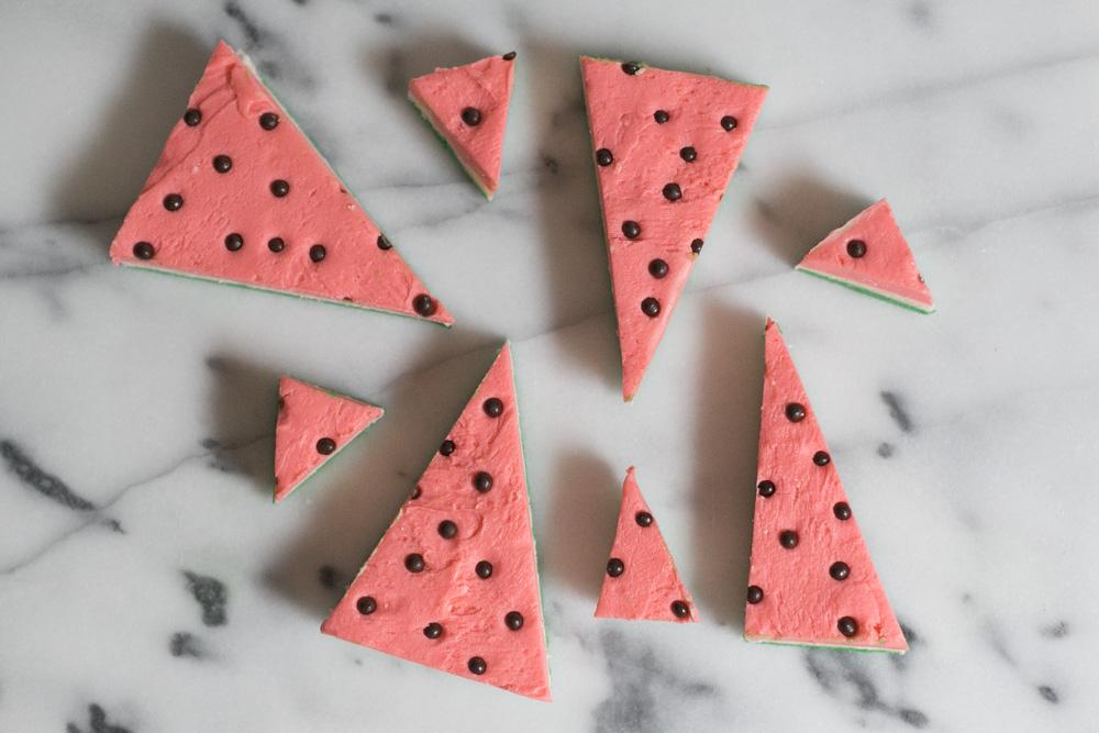 "White Chocolate ""Watermelon"" Fudge   Becca Bakes (www.becca-bakes.com)"