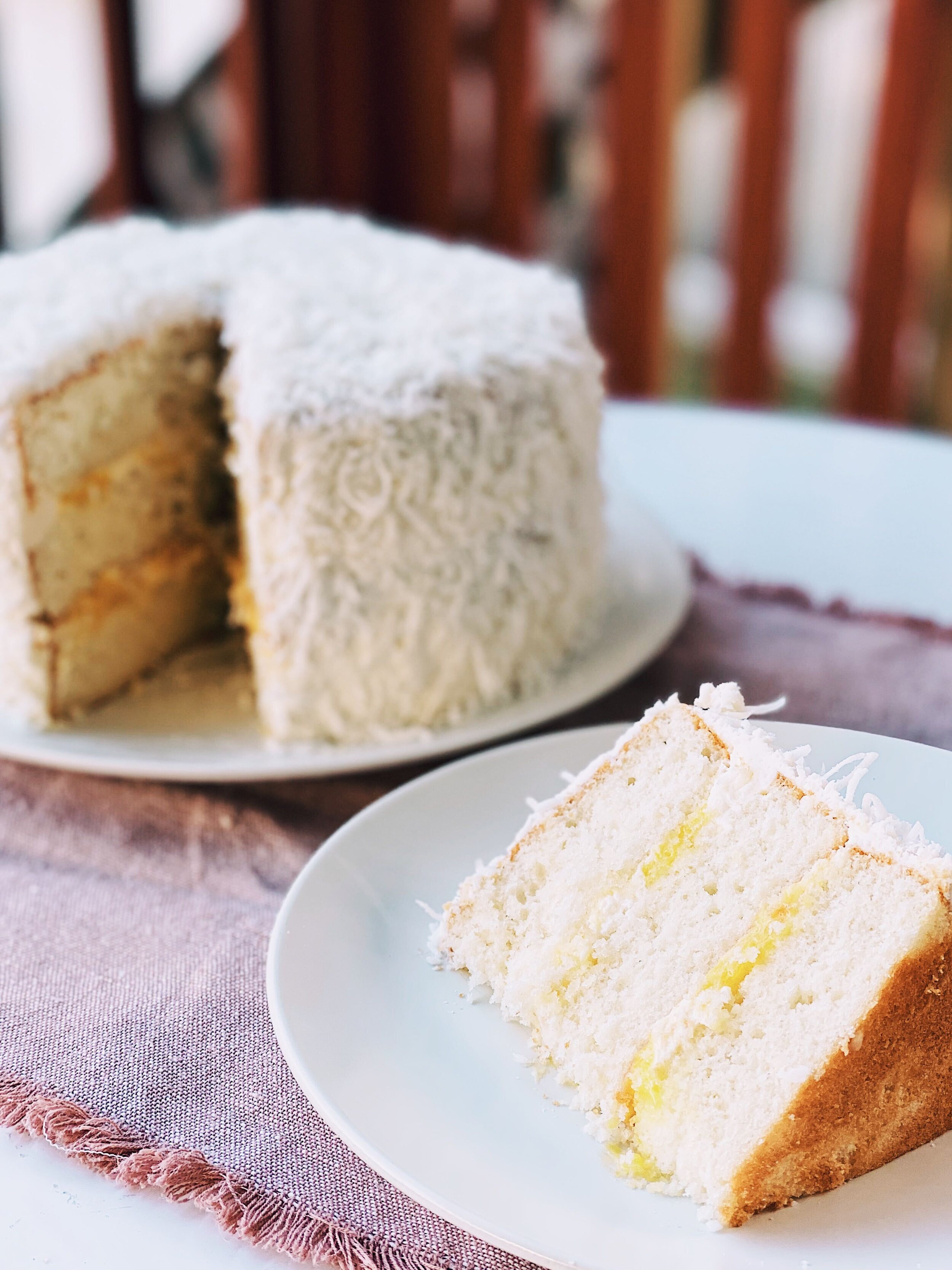 Coconut Layer Cake with Lemon Curd Filling | Becca Bakes (www.wulanhaotej.tw)