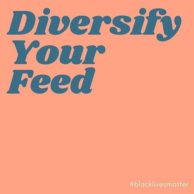 White people: what % of your feed is Black voices? I checked myself and spoiler: it wasn't much. In every single interest/hobby (sports, art, business, etc.) there are Black voices that deserve our attention and are doing cool shit!! Think about the categories of content you typically follow and find Black accounts to diversify your feed.  Scroll for the categories that personally interest me with some awesome accounts I'm now very excited to follow! To be clear: Is following 15 new accounts going to solve this problem? Hell no!!!! But we CHOOSE the content we want to see! Following only white voices means you CHOOSE to ignore Black ones.