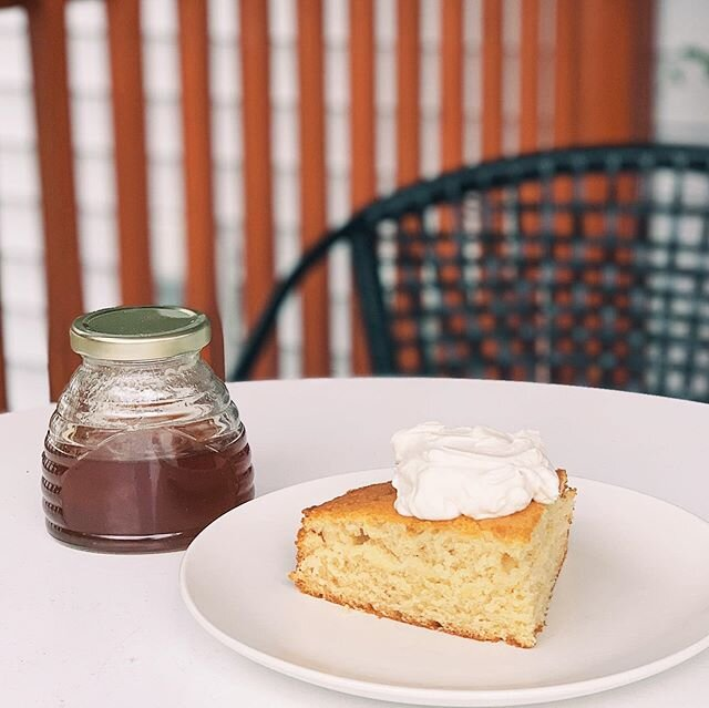 Finally got my hands on some honey from @thelovellyhives ???? It has been so cool watching @meggimouse + @thejoshlovell learn to beekeep! Anyway - I made a honey cake with honey whipped cream ????