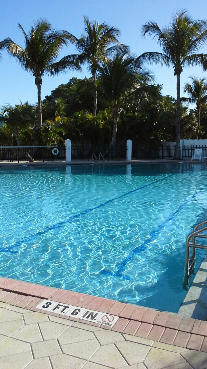 Relax in the large heated pool at the North Captiva Island Club