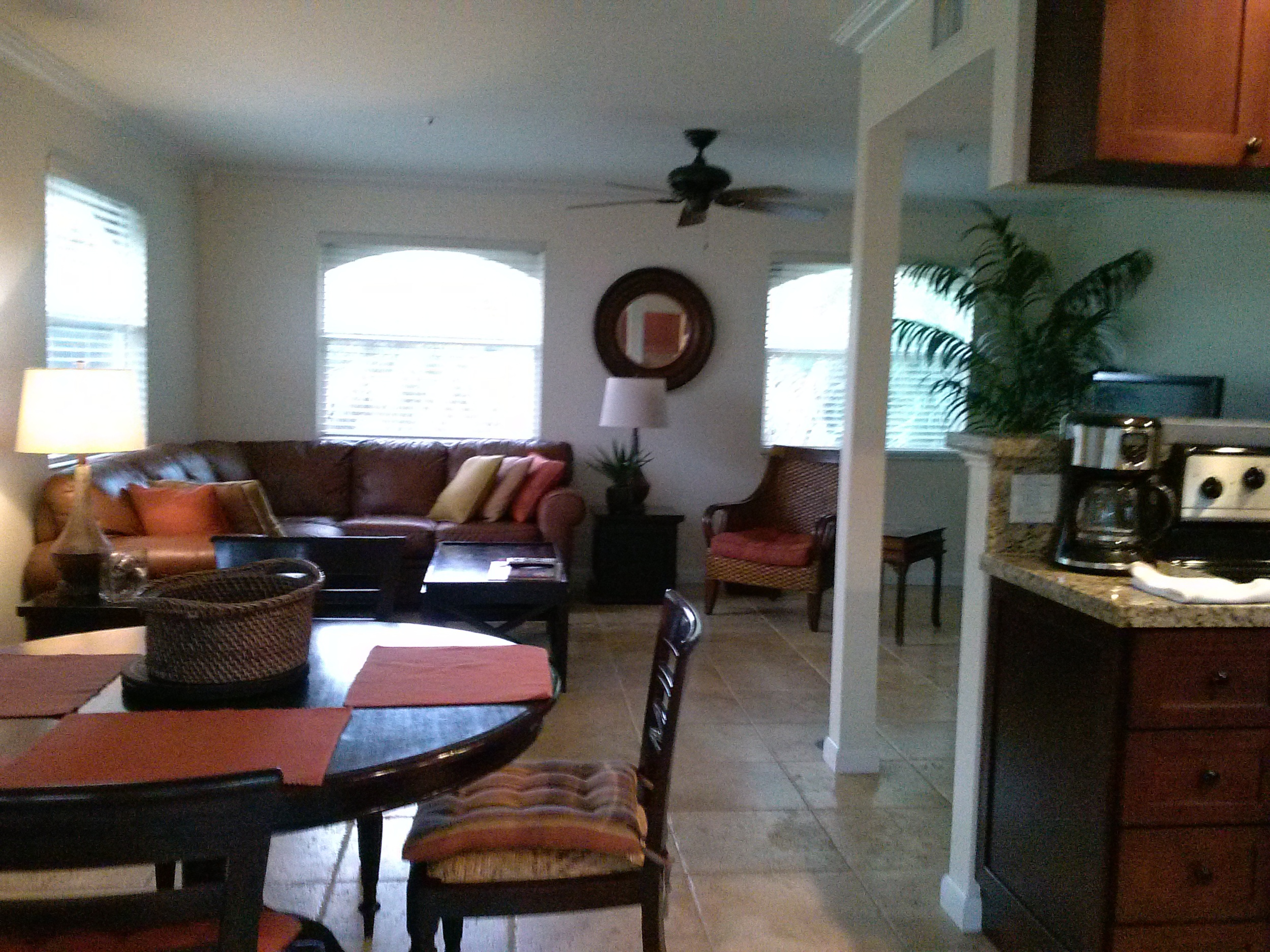 Living room/dining area