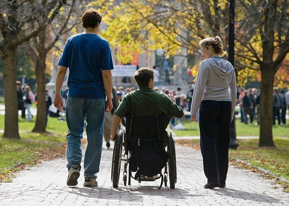 "Photo by Huntstock/Thinkstock     Using a wheelchair can be ""like a low level of fame."""