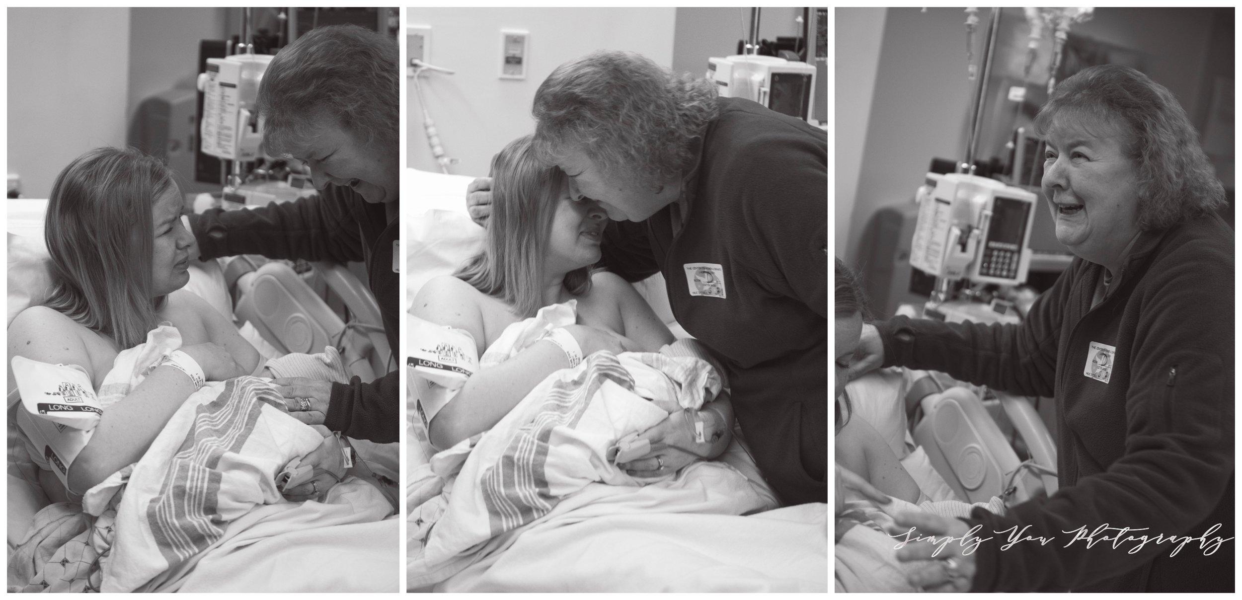 hospital birth family photo