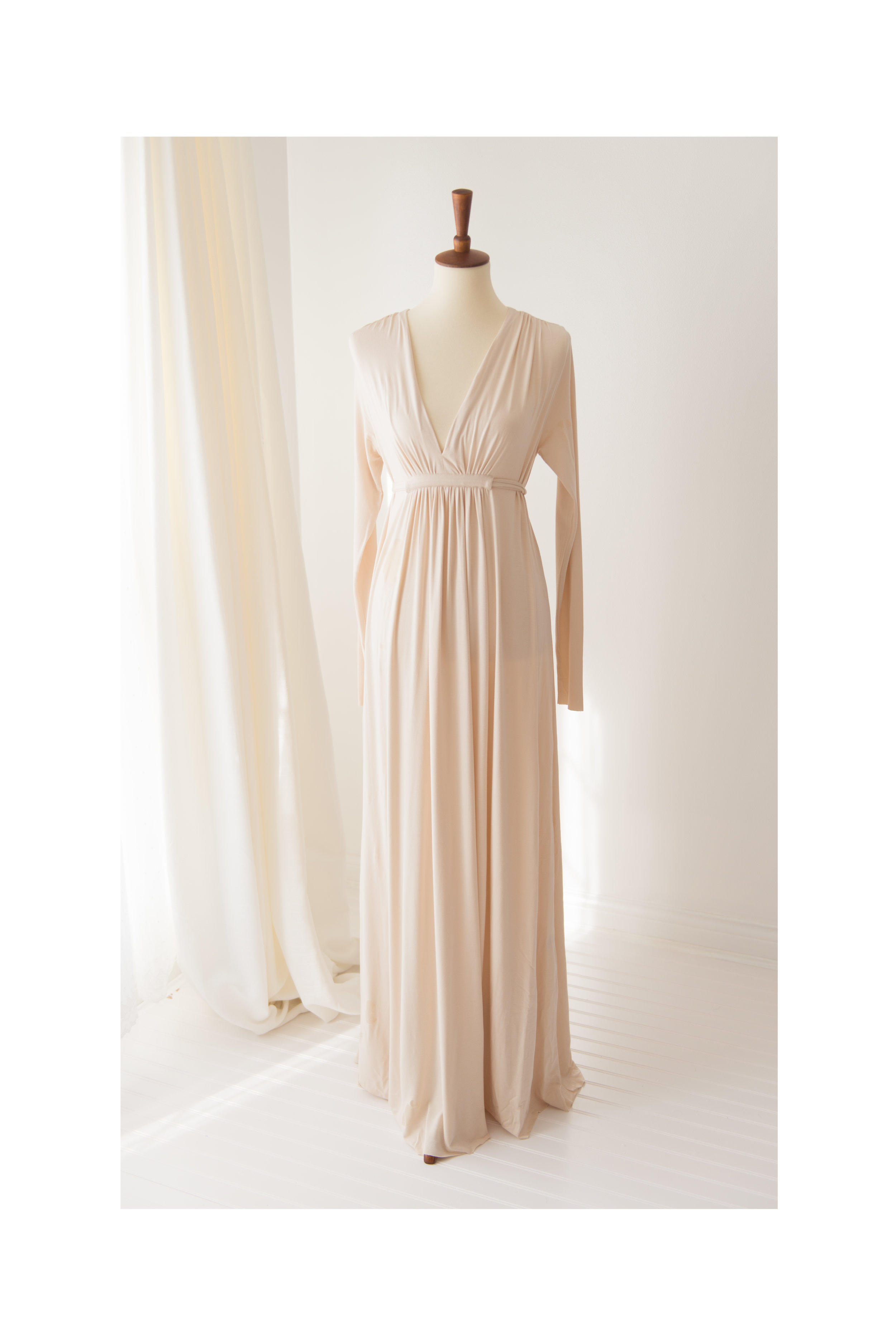 cream rachel pally dress maxi long sleeves