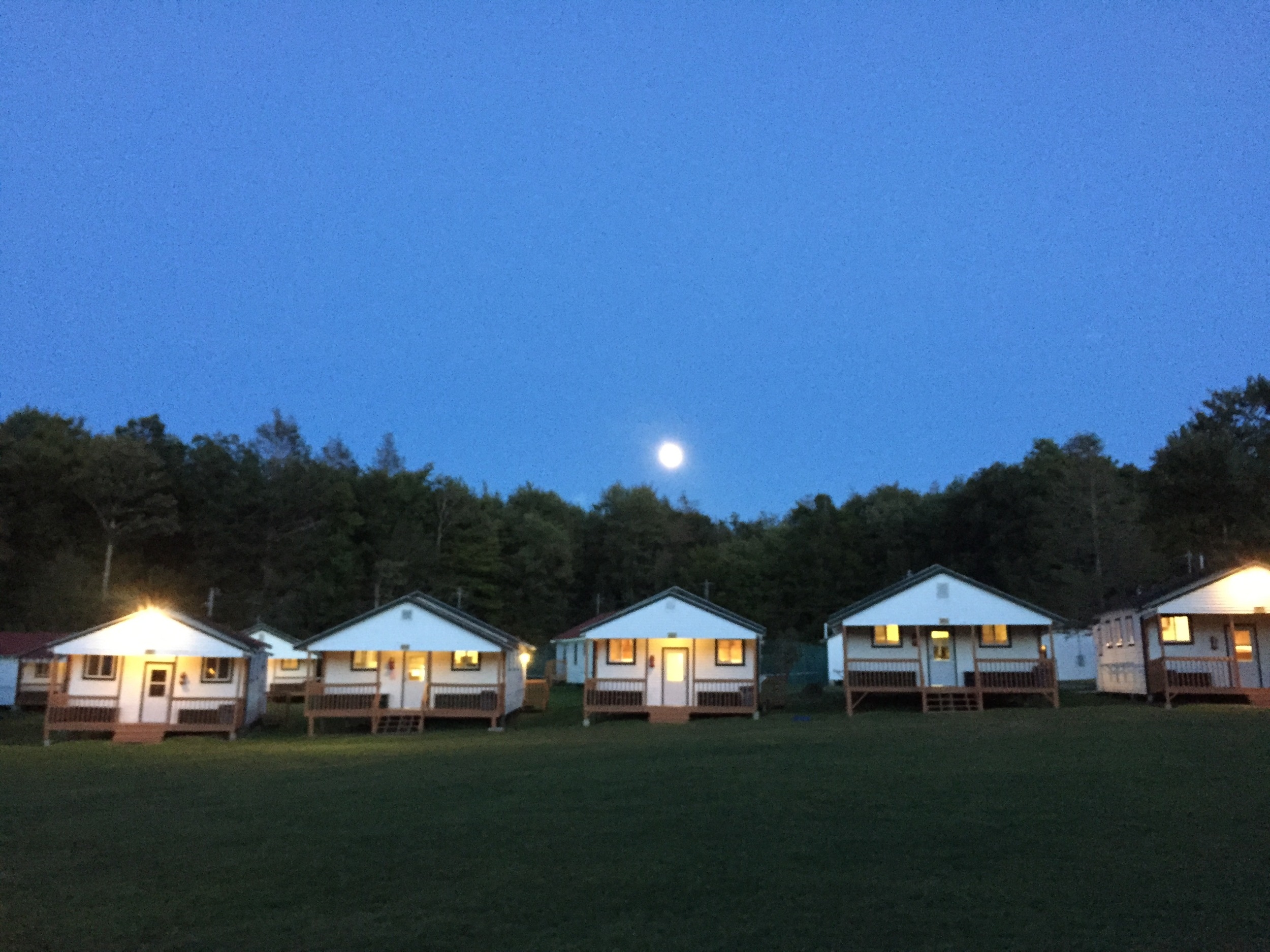 Camp GLP under the moonlight