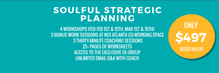 Soulful Strategic Planning 2018 Pricing