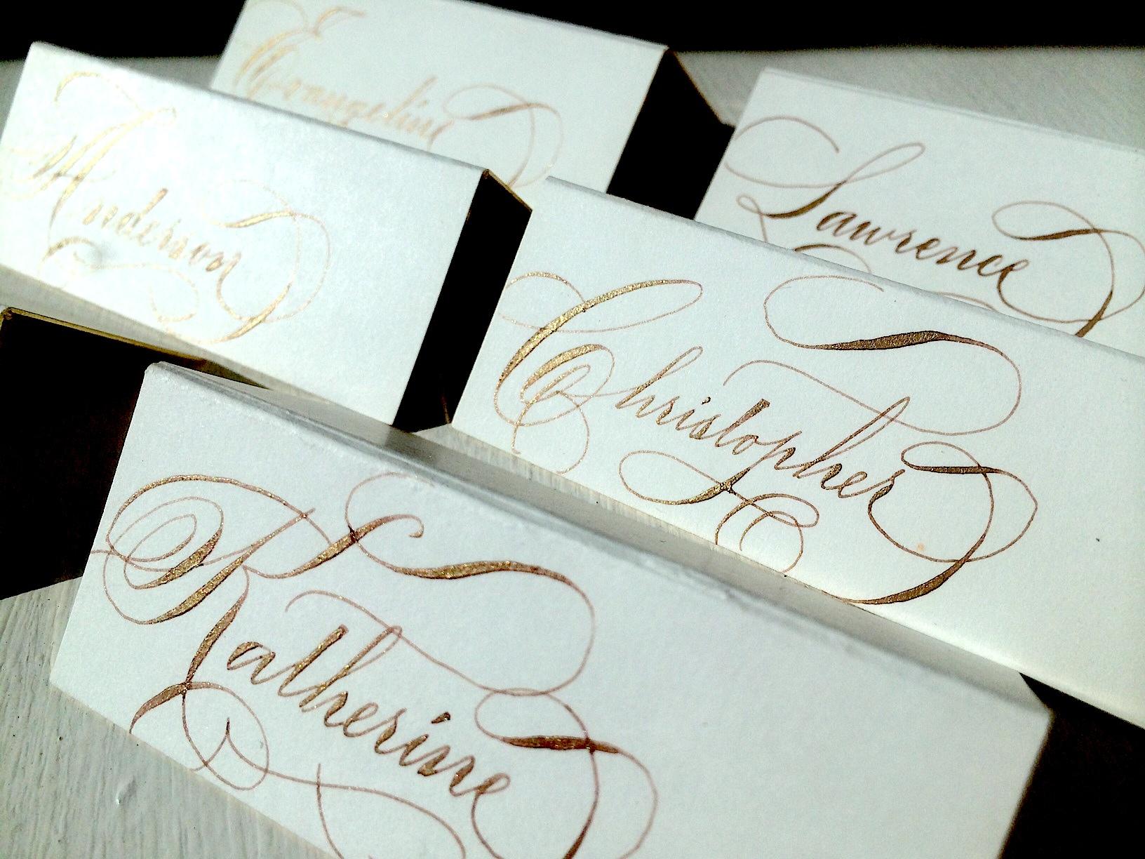 Escort cards gold ink.jpg