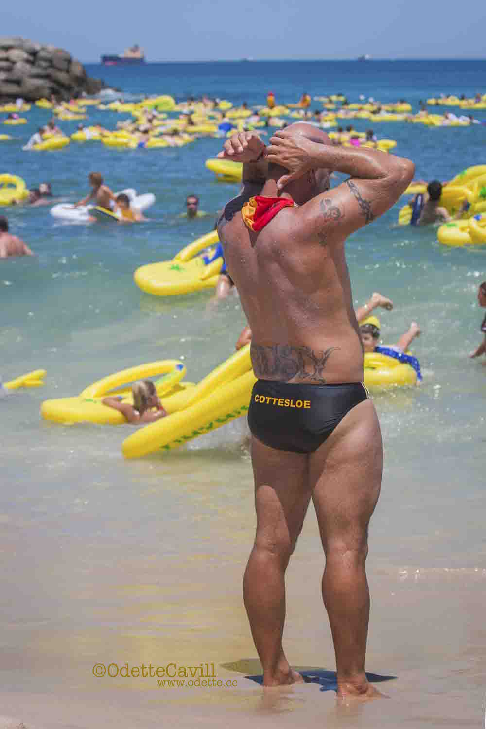 Havaianas Australia Day Thong Challenge on Cottesloe Beach. I couldn't resist this classic 'placement' shot.