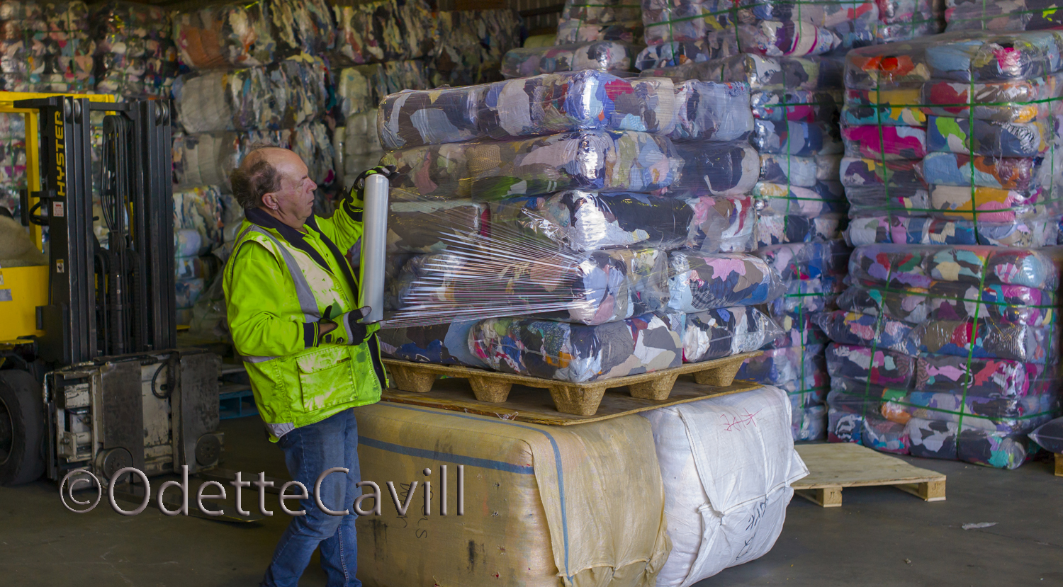 The Busines of Recycling - The warehouse supervisor is preparing