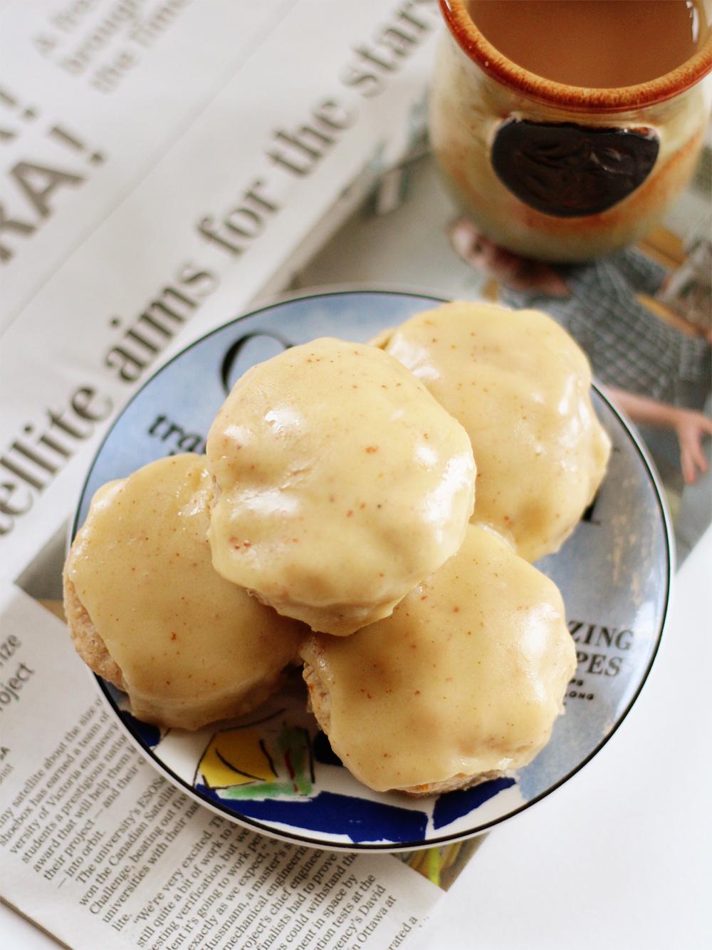 Banana Scones with Brown Butter Glaze | ssheart.com/blog